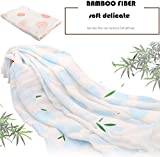 iSbaby 100% Organic Best Baby Muslin Swaddle Baby Blankets Blue and Pink 2 ...